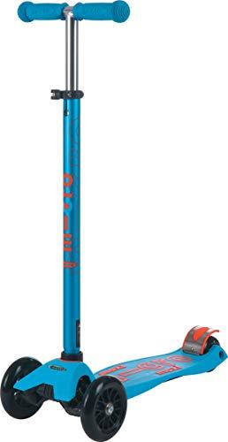 Micro® Maxi Deluxe, Diseño Original, Patinete 3 Ruedas, 5-12 Años, Peso 2,5kg, Carga hasta 70Kg, Altura 67-91cm, Rodamientos ABEC 9, Plataforma Antideslizante (Azul Caribe)