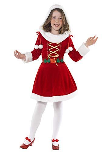 Smiffys Costume de Mère Noël pour enfant, Rouge, avec robe