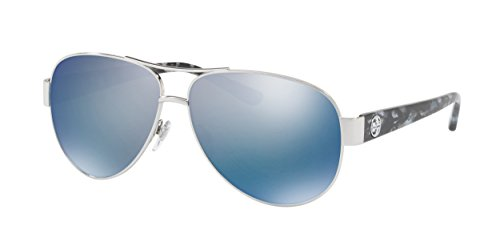 Tory Burch 0TY6057 Silver/Blue Flash Polarized Mirror One Size