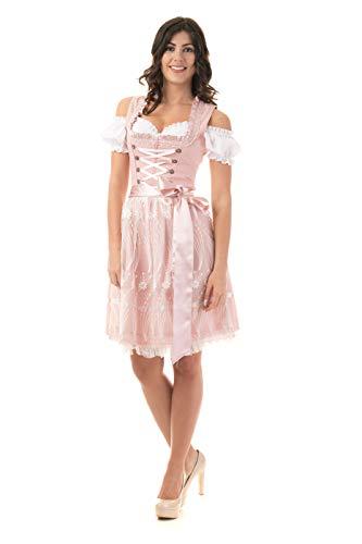 Trachtl.de Dirndl Trachtenkleid Damen Nicole IN ROSA 3.TLG 40