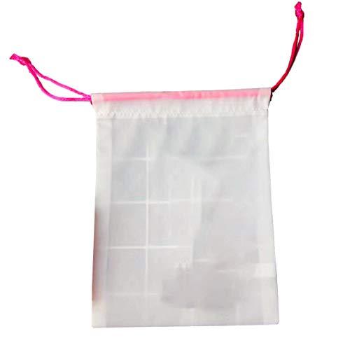 DBSUFV Bolsa de almacenamiento de poliéster con cordón de accesorios de bocadillos de caramelo de cosméticos blancos
