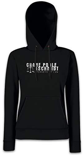 Urban Backwoods Crane Poole & Schmidt Femme Hoodie Sweats à Capuche Sweat-Shirt Noir Taille L