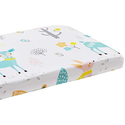 Cot Bed Sheets 110x60cm Cotton Crib Mattress Sheet Mattress Protector for Baby Toddler Sleeping Cradle
