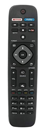 NH500UP New Replaced Remote Control Compatible with PHILIPS TV 55PFL5601/F7 55PFL5901 55PFL5901/F7 55PFL6900 55PFL6900/F7 65PFL8900 65PFL8900/F7 50PFL5601 50PFL5601/F7 50PFL5901 50PFL5901/F7 55PFL5601