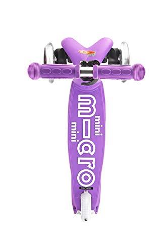 Micro Mobility - Trottinette Mini Deluxe Violet - Trottinette Enfant au Design Original - Apprentissage de l'équilibre en Douceur - De 2 à 5 Ans - Violet