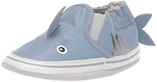 Robeez Boys' Slip On Soft Soles Crib Shoe Blue 12-18 Months