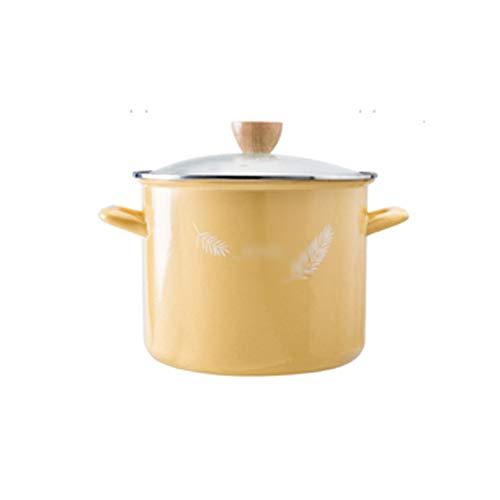 SMEJS Stock Pot, Ceramic Casserole Lid, Heat-Resistant Casserole Clay Pot, Non-Stick Soup Pot