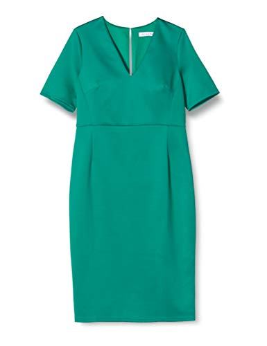 Amazon-Marke: TRUTH & FABLE Damen Midi-Schlauchkleid, Grün (Green), 42, Label:XL