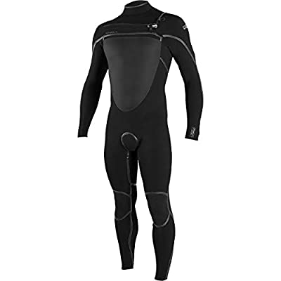O'NEILL Psycho Tech 4/3+Mm Chest Zip Full Wetsuit, Black/Black, Large Short