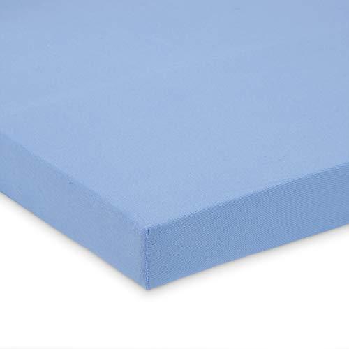FabiMax 2679 Jersey Spannbettlaken für Beistellbett und Wiege, 90 x 55 cm, blau
