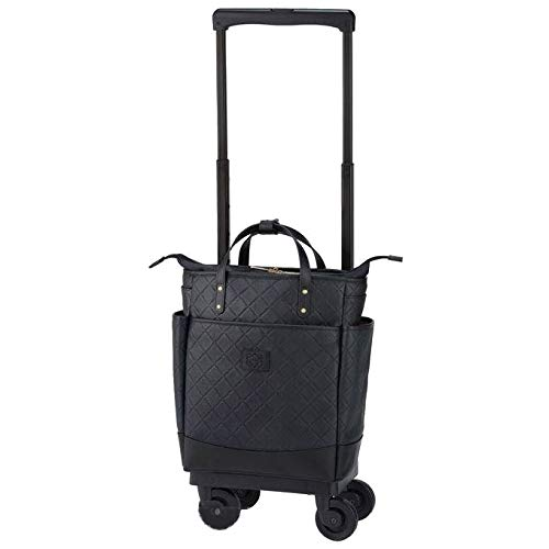?[スワニー] キャリーバッグ D-351 ルクサ (M18) ブラック(4輪ストッパー付)三愛オリジナル折りたたみサブバッグ付