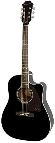 Epiphone by Gibson AJ de 220SCE Negro/Guitarra acústica con fonocaptor y afinador integrado)
