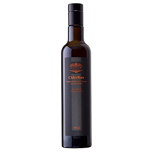 CiderRaw - Vinagre Orgánico de Sidra de Manzana con Madre - 500 ml - Crudo y 100% Puro - Sin Filtrar y sin Refinar - Vegano y Vegetariano - 5% de Acidez - SuperAlimento - Ayurveda SVAYAM