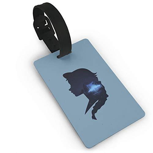 Etiquetas de equipaje Maleta de mano etiqueta de identificación Princesa hermosa niñas castillo lindo diseño creativo silueta plegable viajes