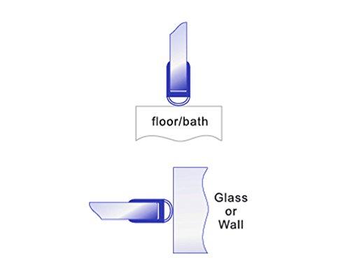 Bagnoxx Duschdichtung runde Lippe, 100cm/200cm, 6mm Glasstärke, PVC Ersatzdichtung