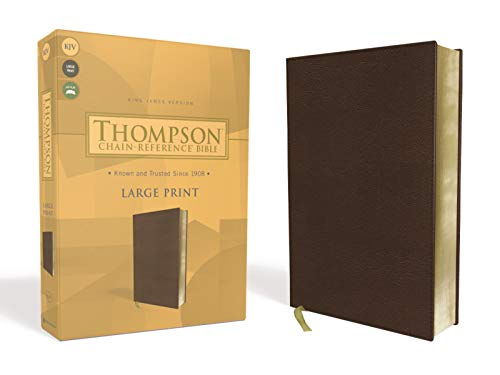 Compare Textbook Prices for KJV, Thompson Chain-Reference Bible, Large Print, Leathersoft, Brown, Red Letter Large Print Edition ISBN 9780310459972 by Zondervan,Thompson, Dr. Frank Charles