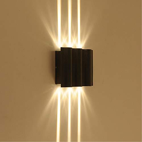 AOKARLIA Aplique LED Pared Moderno Lámpara de Pared Arriba y Abajo para Interior y Exterior, Downlighters de Aluminio Iluminación de Haz para Villa/Patio/Pasillo,Warm Light