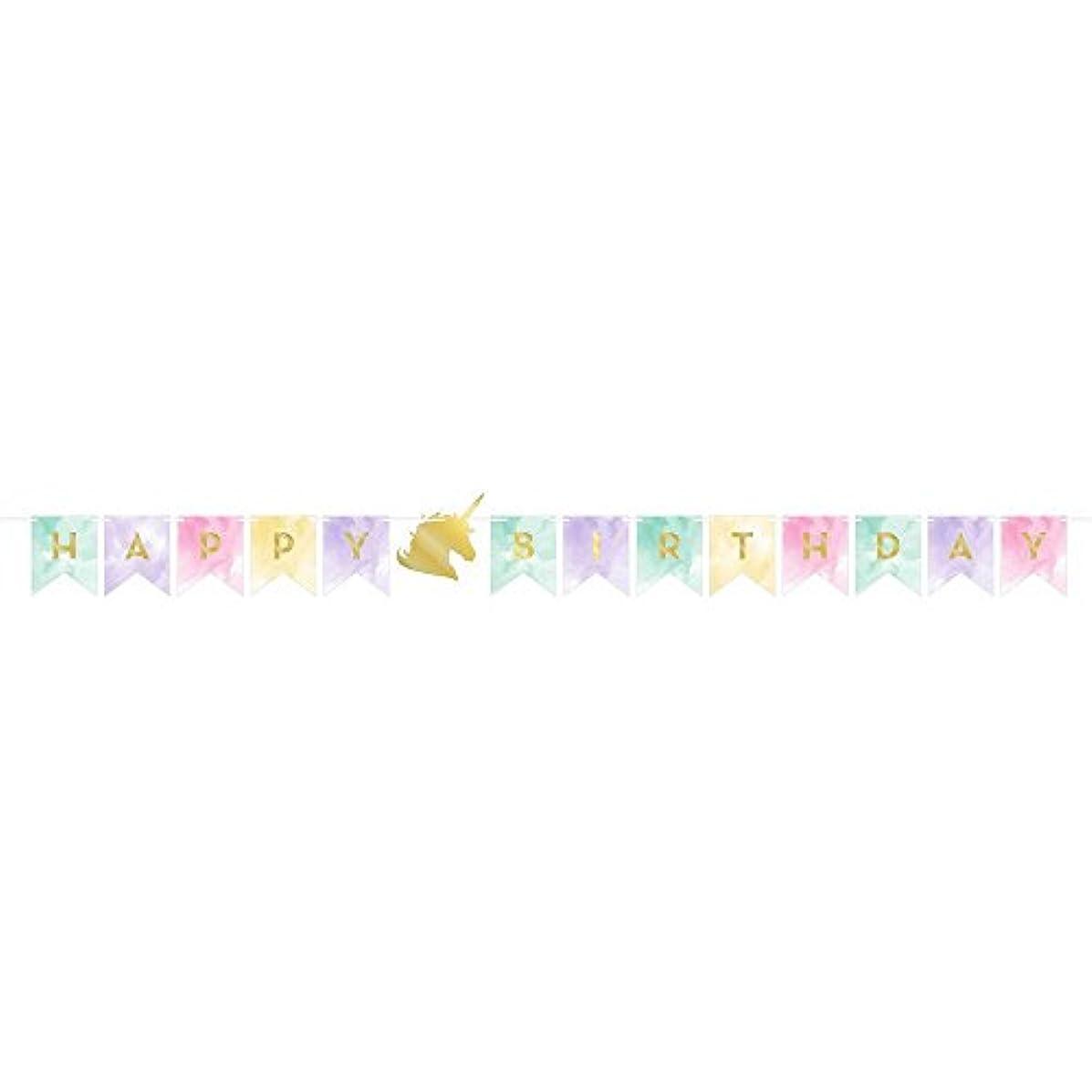 Creative Converting Happy Birthday Banner, Unicorn Sparkle (2-Pack)
