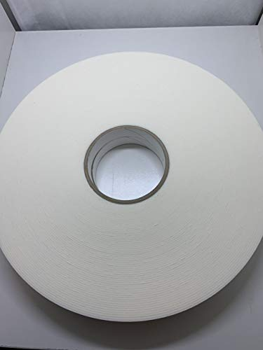 Closed Cell Double Sided Permanent White Foam Mounting Tape – Moisture Resistant Used for Seal, Gasket, and Sound Dampening Indoor/Outdoor: 3/4 in. x 36 yds - 1/16' Thick (Pack of 1)
