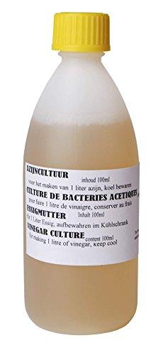 Azijn cultuur 100ml - Azijn Moeder Cultuur, Lactoferm, Azijnzuur, Kombucha Thee, Cider Azijn, Appelazijn