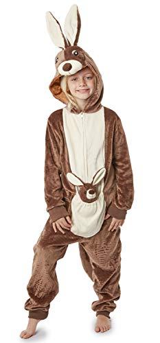 Pijamas de un Pieza Niño Niña Unicornio Conejo Koala Perro Gato Dinosaurio Pingüino Pijama Niños Niñas 2-14 Años (11-12 años, Canguro)