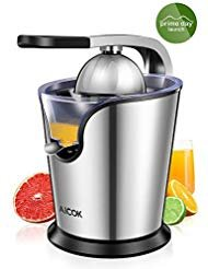 Aicok Citrus Juicer Electric 160W Powerful Stainless Steel citrus juicer squeezer With Soft Grip Handle And Anti-drip Citrus Press For Squeeze Fresh Orange Lemon,Whisper-Quiet Motor