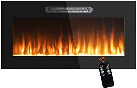 BEYOND BREEZE 36 Inches Electric Fireplace Recessed and Wall Mounted 750 1500 Watt Heater 60 product image