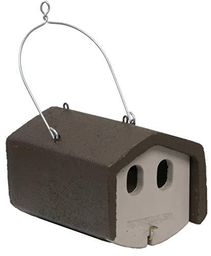 Nistkasten, Nisthilfe Nistkasten, Nischenbrüterhöhle 1N mit 2 Einfluglöchern