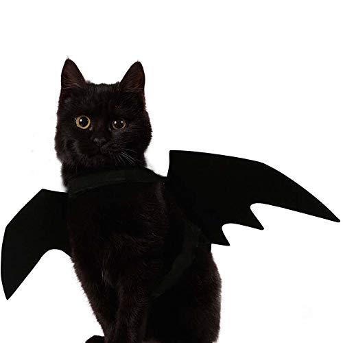 JBPX Creatieve huisdier Halloween kostuum kat hond zwarte vleermuis vleugels Cool Puppy kat zwarte vleermuizen aankleden kostuum huisdier vakantie decoratie