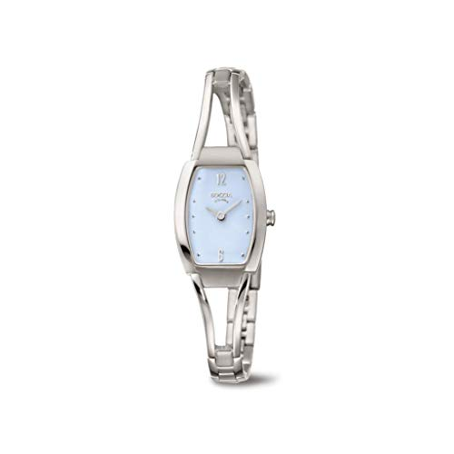 Boccia Damen Analog Quarz Uhr mit Titan Armband 3262-03