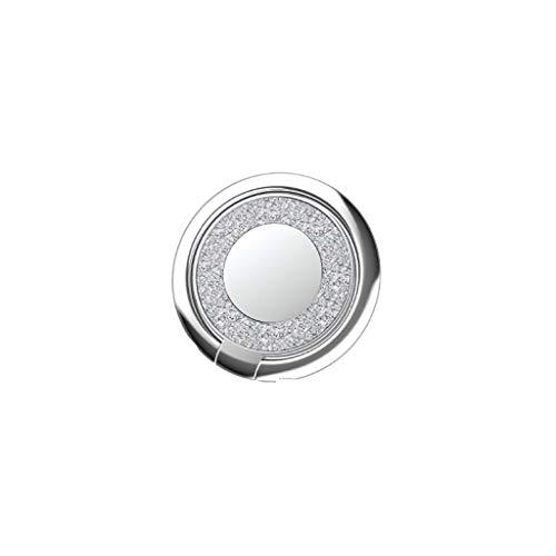 Creols Creols-021 - Anillo de metal para teléfono móvil, diseño de diamantes plateados