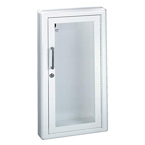 JL Industries 1017G10 Ambassador Cabinet-Full Glazing Door-Primed Steel-Semi Recessed-3in Round Edge