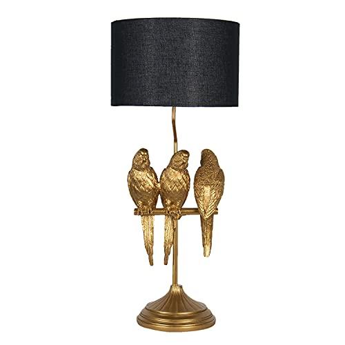 Clayre & Eef Lámpara de mesa de polirresina, 33 x 33 x 79 cm, 5LMC0006