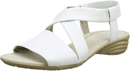 Gabor Shoes Damen Fashion Ankle Strap Sandalen, Weiß (Weiss 21), 42 EU