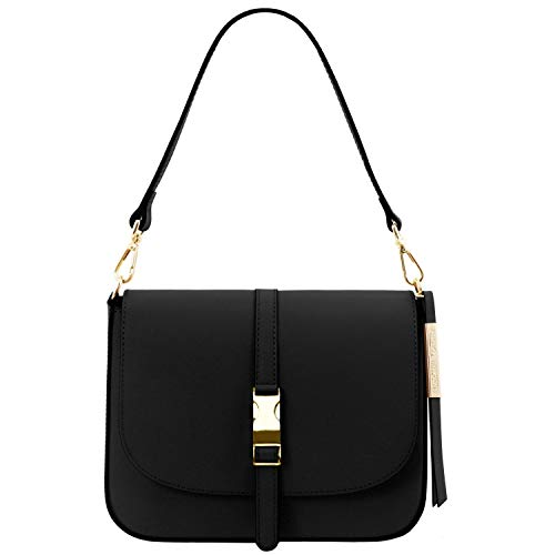 Tuscany Leather Nausica Borsa a tracolla in pelle Nero