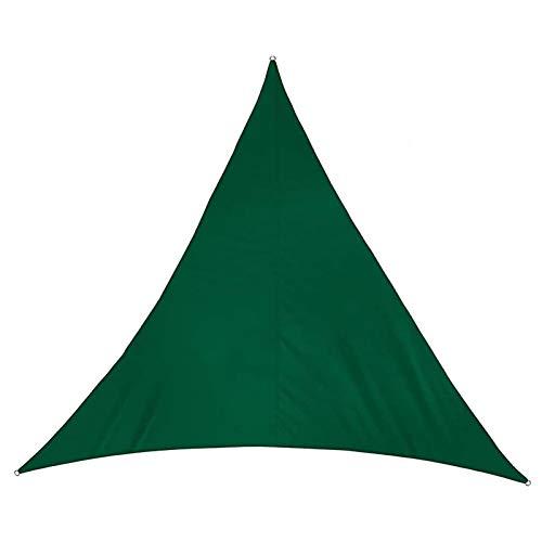 YSHUAI Garden Toldo Vela Triangular Verde Oscuro, Toldo Parasol Impermeable, Toldo Vela De Sombra para Jardín, Protección Rayos UV para Patio, Exteriores,6.5'X6.5'X6.5'/2X2X2m