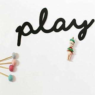 المواصفات: لعب (بارز)، ملصقات حائط من الأكريليك بتصميم حروف للأطفال متجر ملابس الأطفال وزينة غرف الأطفال مناسبة للمنزل