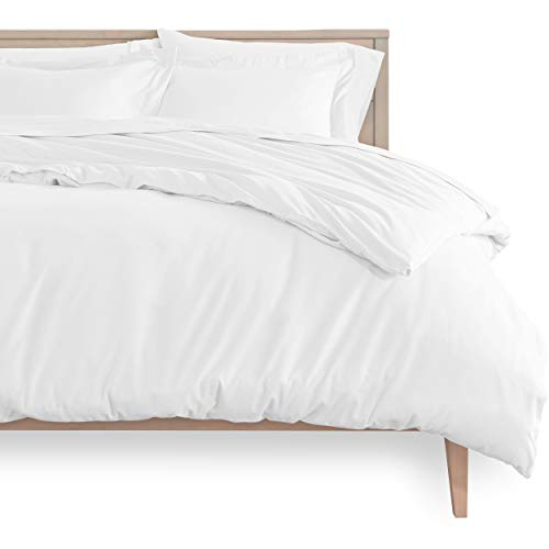 Bare Home Duvet Cover and Sham Set - Single Size - Premium 1800 Ultra-Soft Brushed Microfiber - Hypoallergenic, Easy Care, Wrinkle Resistant (Single, White)