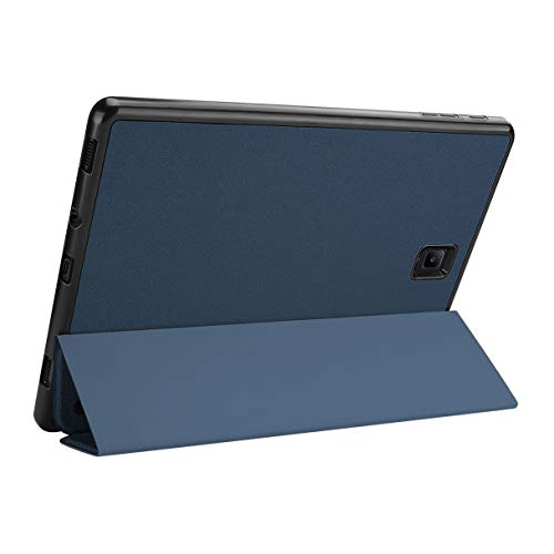 Camisin for TAB S4 10.5 Inch Tablet PC Case with Press Pen Anti-Lost Card Slot Design PU Protective Case