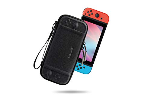 BAGSMART Carry Case for Nintendo Switch, Portable Switch Case Ultra Slim Travel with 10 Card Slots, Protective Hard Shell, Black