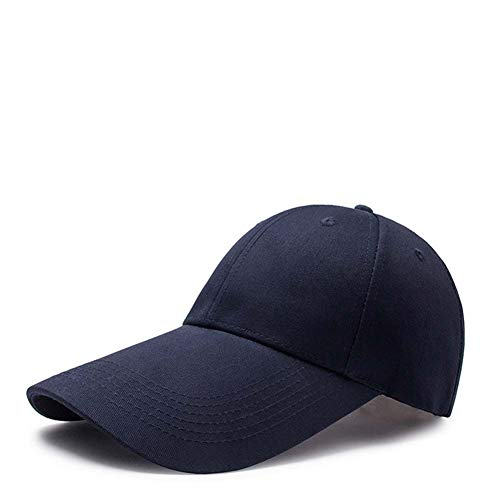 YYXLL Baseball Cap Outdoor Sport Mütze Verstellbar Baseballkappe Baseballmütze, Baseballmützebaumwolle Golfhut Im Freiensportfreizeit-Sonnenhut,Dark Blue