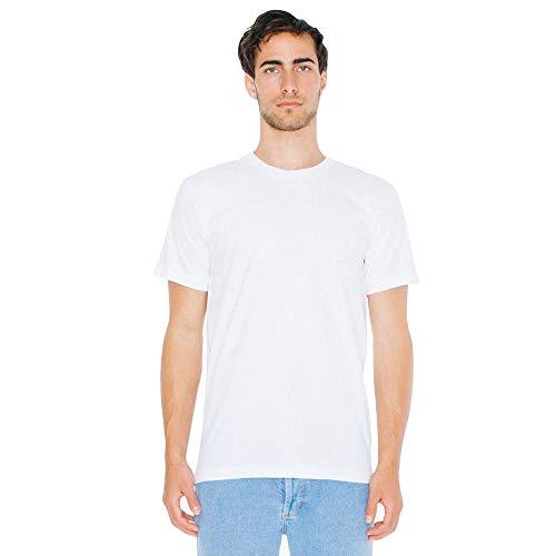 American Apparel - Unisex Fine Jersey T-Shirt/White, L