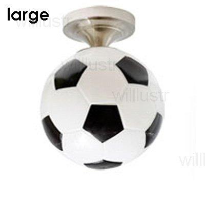 5151BuyWorld Lamp glazen lamp voetbal hanger licht huis hanglamp ronde voetbal restaurant bar kinderkamer hotel zwart