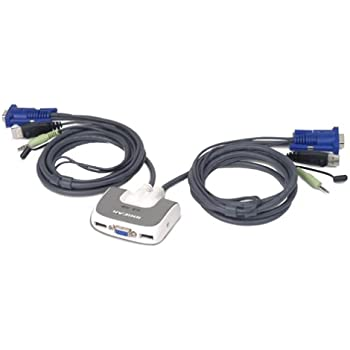 IOGEAR Network GCS1722 KVM Switch 2Port VGA//PS2 and USB Electronic Consumer Electronics
