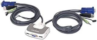 IOGEAR GCS632U 2 Port VGA USB Compact KVM Switch