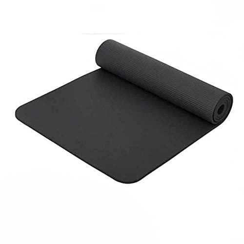 Diseñado para ejercicio físico,Esterilla de yoga para hombres y mujeres, almohadilla para ejercicios, almohadilla para baile, deportes, fitness-black_183 * 61 * 1.5cm,Adecuado para yoga y fitness.