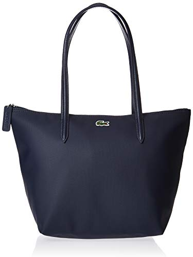 Lacoste Womens L.12.12 Small Tote Bag Shoulder Handbag, Eclipse, One Size
