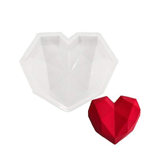 tJexePYK del corazón Hueco Redondo 3D de Silicona Molde de múltiples Funciones de Bricolaje Ronda del Cubo de Hielo del Molde de la Magdalena Molde de Horno