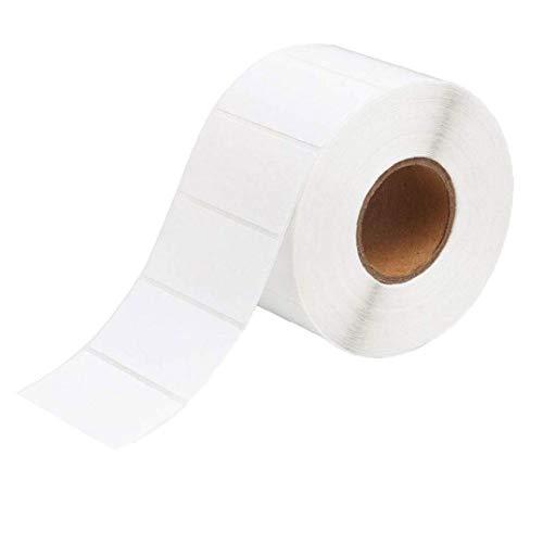 Aiyrchin Impresión de la Etiqueta en Blanco Planchas de calcomanías Auto-Adhesivo de Etiquetas Adhesivas Rollo Multifuncional para Oficina Cocina Jam Blanca