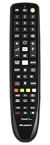 Meliconi telecomando per TV SONY, Personal 3 Plus, Pronto all'uso, non necessita di programmazione, Nero